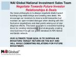 nai global national investment sales team negotiate towards future investor relationships deals