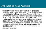 articulating your analysis