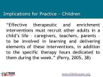 implications for practice children