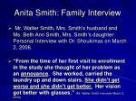 anita smith family interview