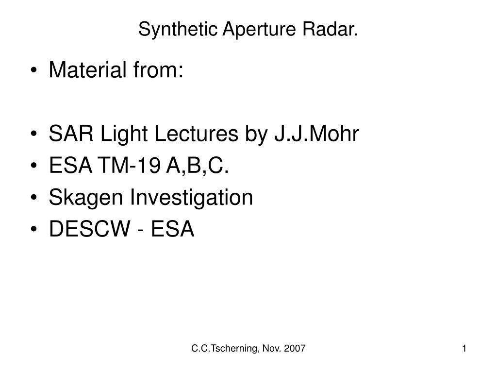 synthetic aperture radar l.