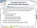 economic theories of exchange rate determination