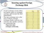 insuring against foreign exchange risk