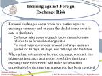 insuring against foreign exchange risk8