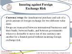 insuring against foreign exchange risk9
