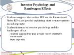 investor psychology and bandwagon effects