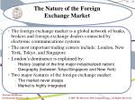 the nature of the foreign exchange market