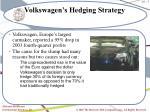 volkswagen s hedging strategy