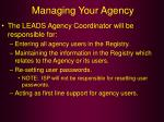 managing your agency