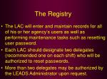 the registry38