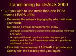 transitioning to leads 200053