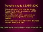 transitioning to leads 200056