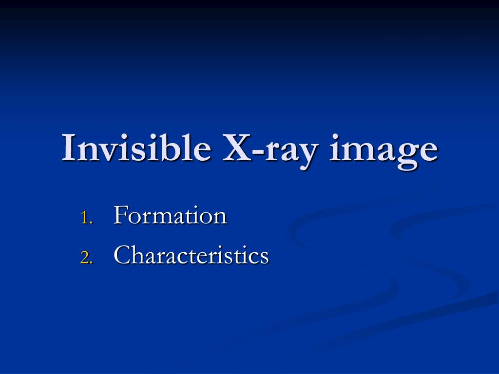 invisible x ray image l.