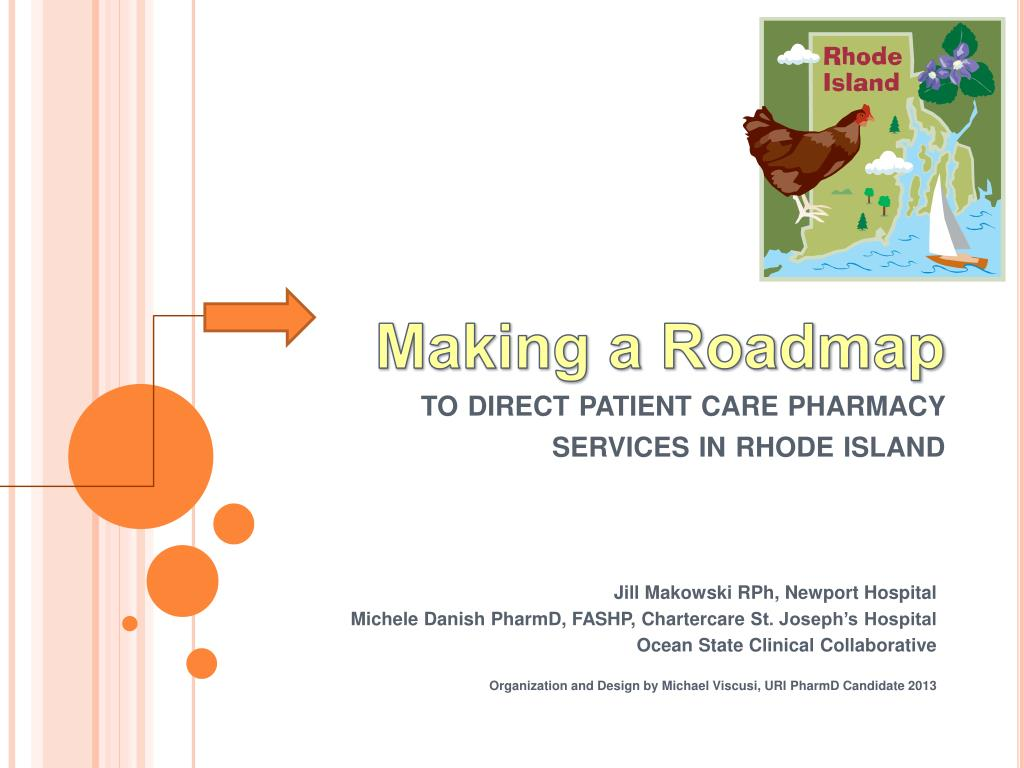 making a roadmap to direct patient care pharmacy services in rhode island l.