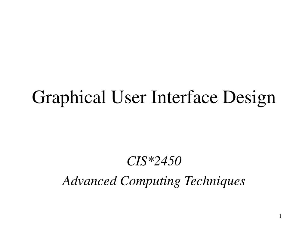 graphical user interface design l.