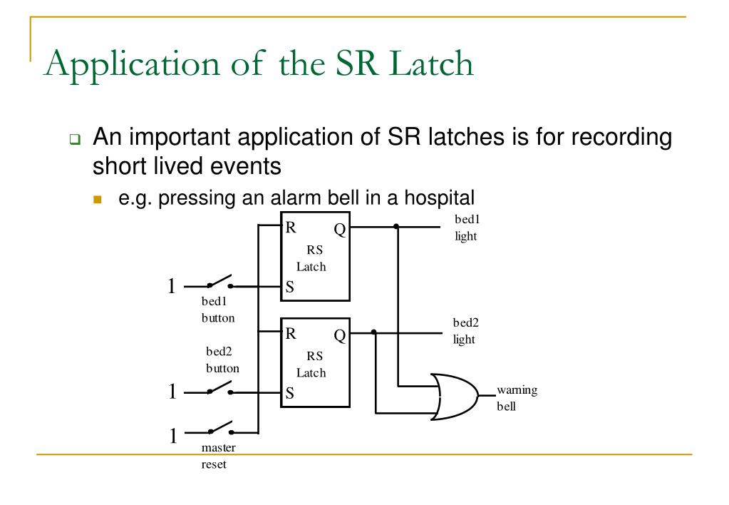 Application of the SR Latch