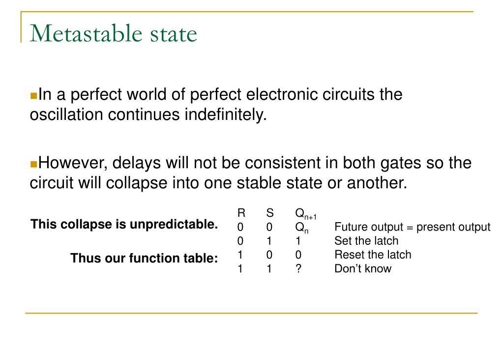 Metastable state
