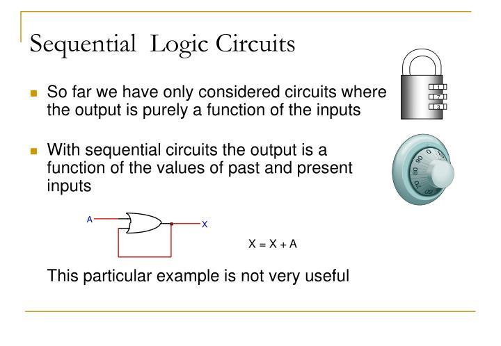 Sequential logic circuits