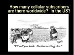 how many cellular subscribers are there worldwide in the us