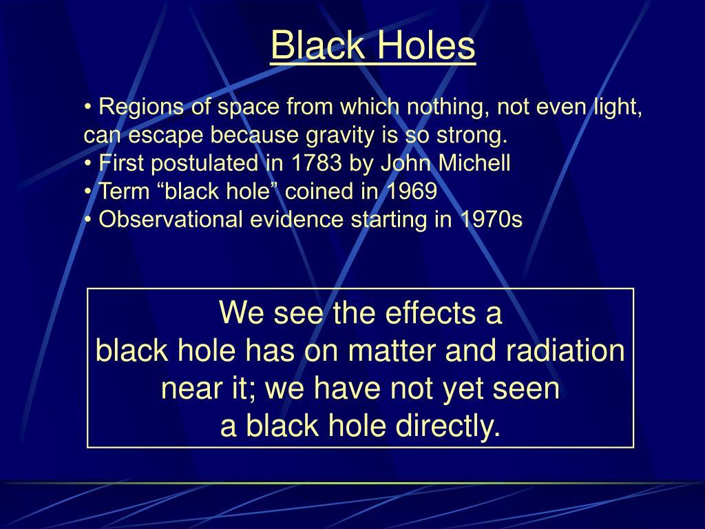 black holes l.