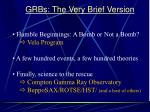grbs the very brief version