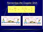 remember the doppler shift