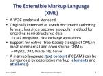 the extensible markup language xml