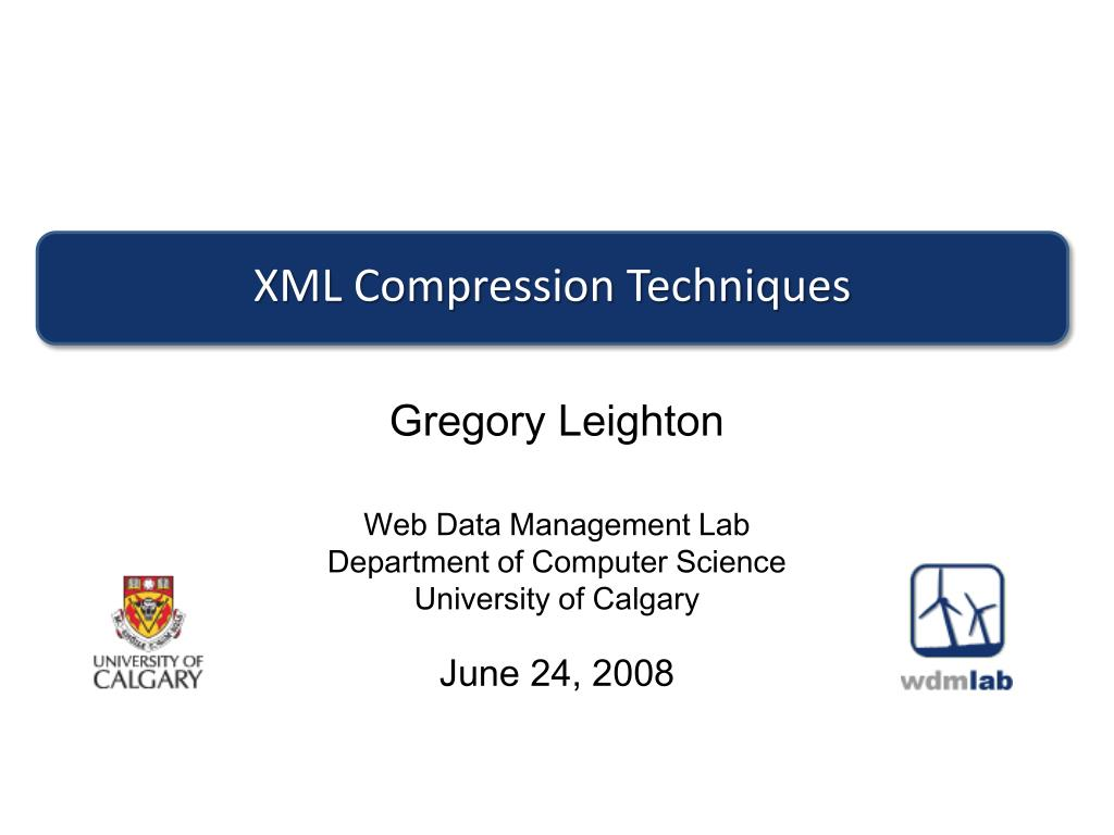 xml compression techniques l.