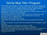 ginnie mae title i program