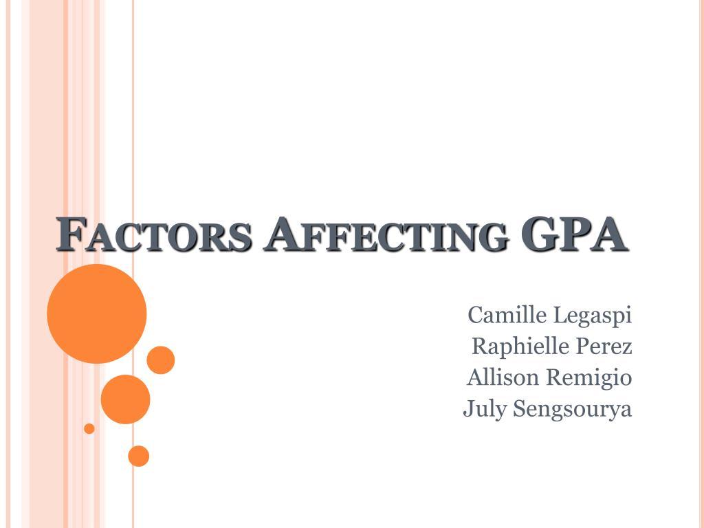 factors affecting gpa l.