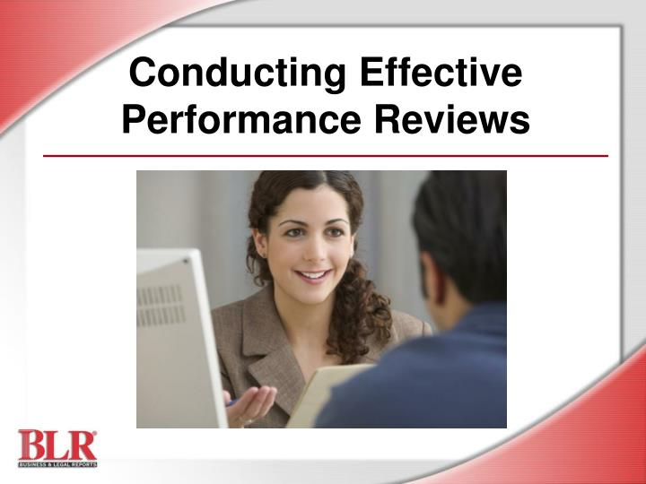 conducting effective performance reviews n.
