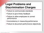 legal problems and discrimination charges