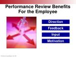 performance review benefits for the employee