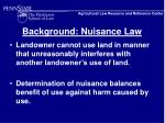 background nuisance law