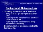background nuisance law6