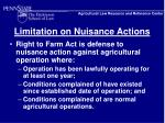 limitation on nuisance actions