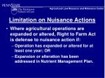 limitation on nuisance actions12