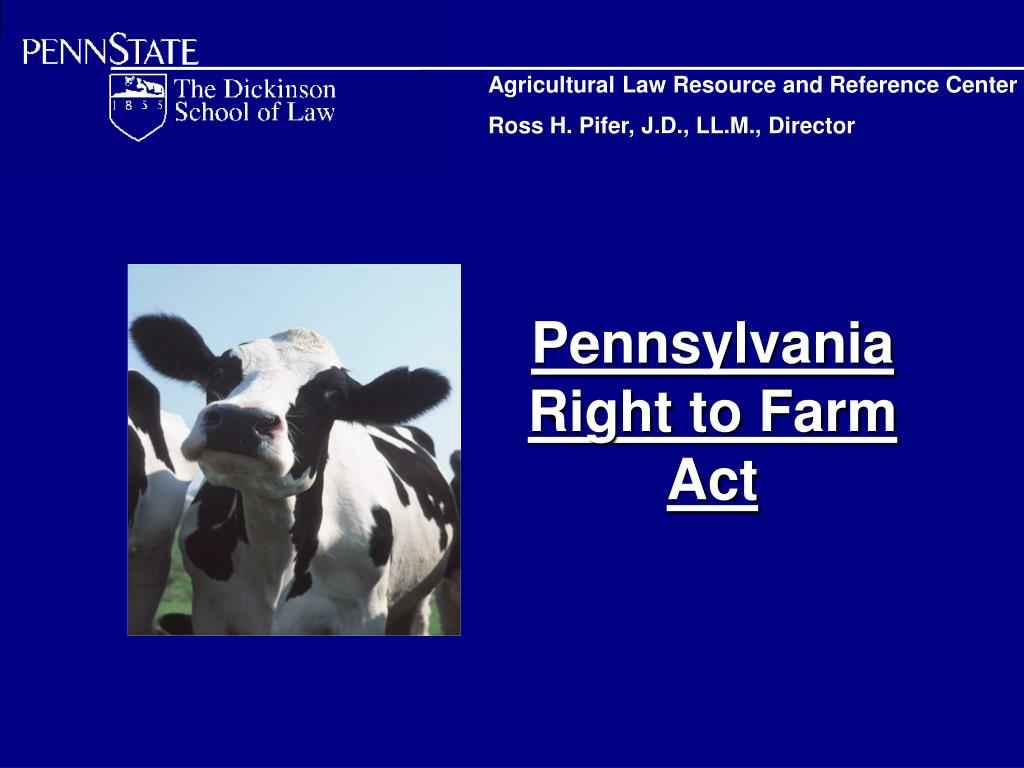 pennsylvania right to farm act l.