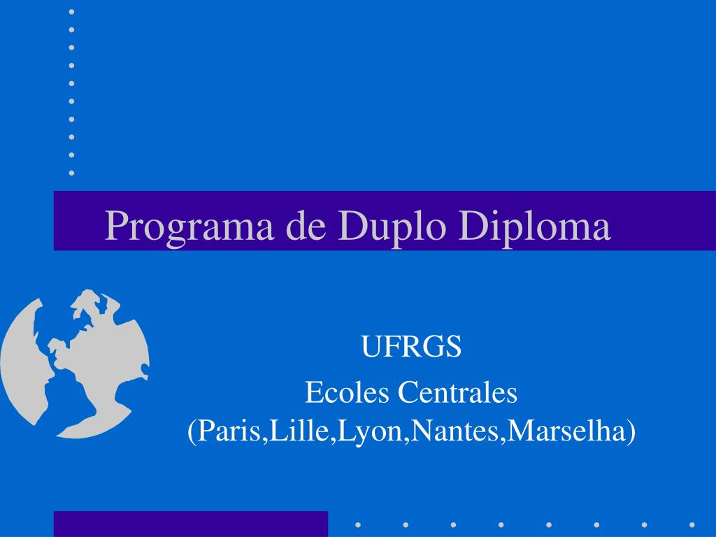 programa de duplo diploma l.
