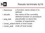 pseudo terminals 6 10