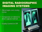 digital radiographic imaging systems