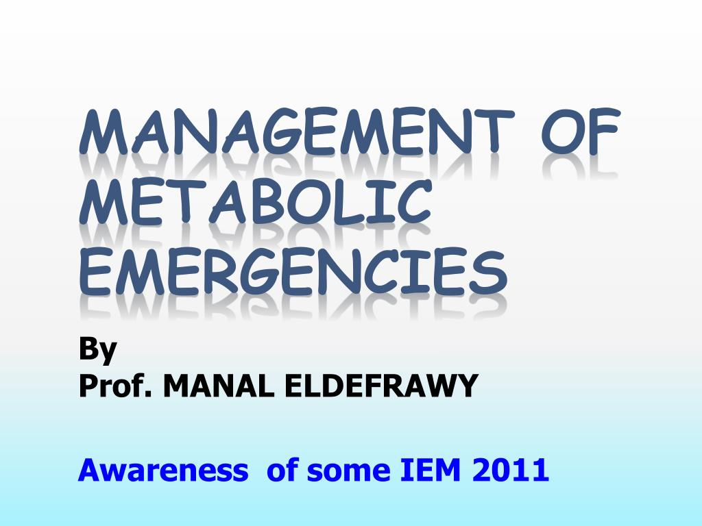 by prof manal eldefrawy awareness of some iem 2011 l.