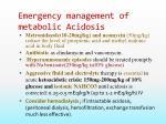 emergency management of metabolic acidosis