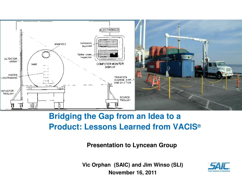 bridging the gap from an idea to a product lessons learned from vacis l.