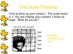 the scale drawing