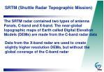 srtm shuttle radar topographic mission