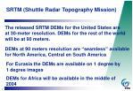 srtm shuttle radar topography mission5