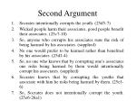 second argument