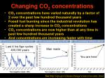 changing co 2 concentrations