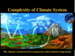 complexity of climate system